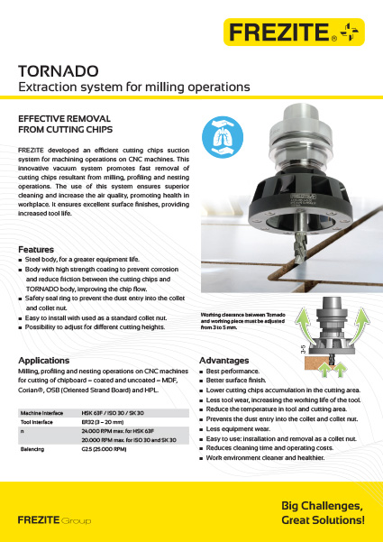 Tornado Extraction System for milling operations
